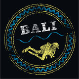 Bali dive center logo Royalty Free Stock Photography