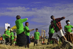 Bali drakefestival Royaltyfri Bild