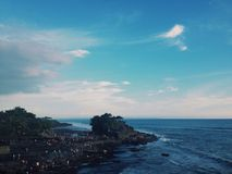 Bali In The Evening. Beautiful scenery at Tanah Lot , Bali Royalty Free Stock Images
