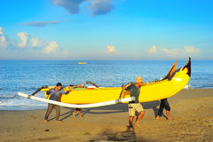 Bali fishermen Royalty Free Stock Photos