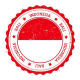 Bali flag badge. Stock Photography