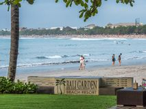 Bali Garden Beach Resort a popular place for the sunset dinners stock photography