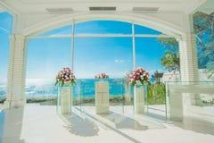 Bali glass church wedding Stock Photography