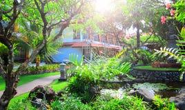 Bali green resort Stock Photos