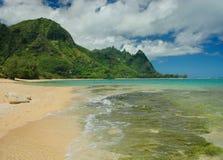 Bali Hai de la playa de Anini Imagen de archivo
