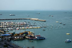 Bali Hai Pier Marina. Many Boats at Pattaya marina Bali Hai Royalty Free Stock Photography