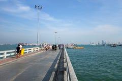 Bali Hai Pier, situado en el corazón de Pattaya Fotos de archivo