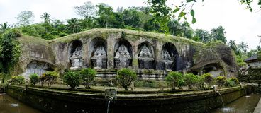 Bali, Indonesië 09 Januari, 2018: De tempel van Gunungkawi in Bali Royalty-vrije Stock Foto's