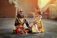 BALI, INDONESIË - 6 JUNI 2018: Traditioneel Balinees Art Performa royalty-vrije stock foto's
