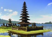 Bali - Indonesia. Pura Ulun Danu Temple on Danau Bratan Lake on the Indonesian island of Bali Stock Photos