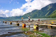 BALI,INDONESIA - April 16,2015: Fishermans making their float fi Stock Images