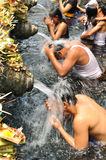 BALI, INDONESIA - April 18,2015:  Holy Spring Water Tirta Empul Stock Photo