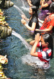BALI, INDONESIA - April 18,2015:  Holy Spring Water Tirta Empul Stock Images