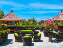 Bali, Indonesia - April 10, 2012: The Lrest zone and park in Ayodya Resort Stock Photography