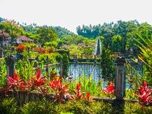 Bali, Indonesia - April 17, 2012: Tirtaganga water palace. At Bali island at Indonesia Royalty Free Stock Photography