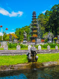 Bali, Indonesia - April 17, 2012: Tirtaganga water palace Royalty Free Stock Photography