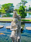 Bali, Indonesia - April 17, 2012: Tirtaganga water palace Royalty Free Stock Images