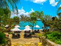Bali, Indonesia - April 14, 2014: View of The main entrance Four Seasons Resort at Jimbaran Bay Stock Image