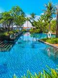Bali, Indonesia - April 14, 2014: View of swimming pool at St. Regis Resort Stock Images