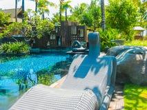 Bali, Indonesia - April 14, 2014: View of swimming pool at St. Regis Resort Stock Photography