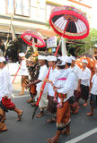BALI, INDONESIA . DEC 27, 2013 in Ubud. parade Stock Photography