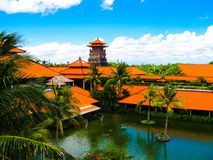 Bali, Indonesia - December 25, 2008: The Lagoon and park in Ayodya Resort Stock Photography