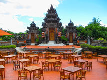 Bali, Indonesia - December 25, 2008: The traditional Balinese theater and park in Ayodya Resort Royalty Free Stock Photography