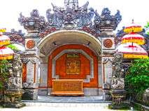 Bali, Indonesia - December 25, 2008: The traditional Balinese theater and park in Ayodya Resort Stock Images