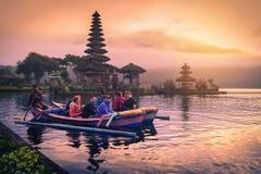 Bali, Indonesia, el 12 de agosto de 2017: Pura Ulun Danu Bratan, hindú Fotografía de archivo