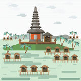 Bali indonesia. Eps 10 format Royalty Free Stock Photography