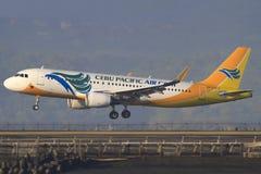 Cebu Pacific. Bali/Indonesia Februar 19, 2013: Airbus A320 Cebu Pacific takeoff at Bali Airport Stock Images
