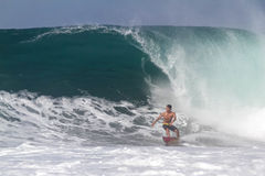 Bali, Indonesia - Jun. 2013: Brazilian pro surfer Gabriel Medina Royalty Free Stock Photos