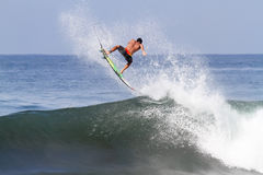 Bali, Indonesia - Jun. 2013: Brazilian pro surfer Gabriel Medina Royalty Free Stock Image