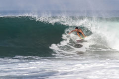 Bali, Indonesia - Jun. 2013: Brazilian pro surfer Gabriel Medina Royalty Free Stock Photography