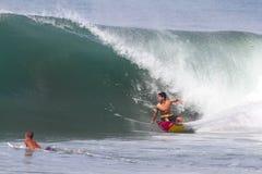 Bali, Indonesia - Jun. 2013: Brazilian pro surfer Gabriel Medina Royalty Free Stock Photography