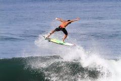 Bali, Indonesia - Jun. 2013: Brazilian pro surfer Gabriel Medina Royalty Free Stock Photos