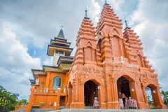 BALI, INDONESIA - MARCH 08, 2017: External view of the Katedral Roh Kudus, Catholic Church, located in Denpasar in Royalty Free Stock Images