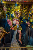 BALI, INDONESIA - MARCH 08, 2017: Impresive hand made structure, Ogoh-ogoh statue built for the Ngrupuk parade, which Royalty Free Stock Photos