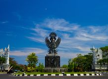 BALI, INDONESIA - MARCH 11, 2017: Stoned sculpture demon statue, represent the Hinduism. In Bali Stock Photos