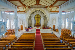 BALI, INDONESIA - MARCH 08, 2017: View from inside of the Katedral Roh Kudus, Catholic Church, located in Denpasar in Stock Images