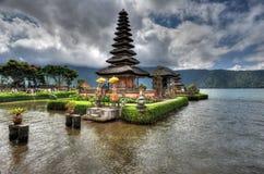 BALI, INDONESIA 29 May 2015: Artistic HDR photo of Ulun Danu Beratan Temple Royalty Free Stock Images