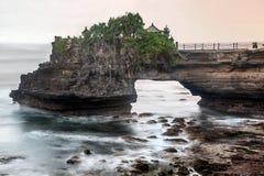 bali indonesia mycket tanahtempel Arkivbild