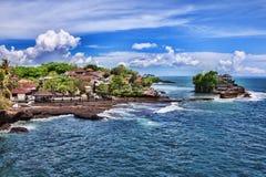 bali indonesia mycket tanahtempel Arkivbilder