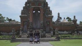 Bali, Indonesia October 2016: Pura Taman Ayun, Taman Ayun Temple,Bali Indonesia, the Panoramic view in sunny day.  stock video