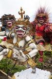 bali indonesia ogohstatyer Arkivfoto