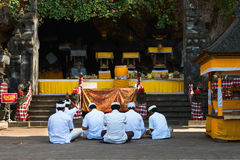 Sacred ceremony in Goa Lawah Bat Cave, Bali, Indonesia Royalty Free Stock Photo