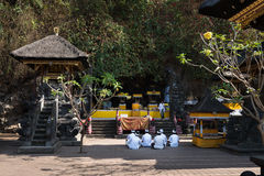 Sacred ceremony in Goa Lawah Bat Cave, Bali, Indonesia Stock Photography