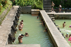 Termal hot springs on Bali Royalty Free Stock Photography