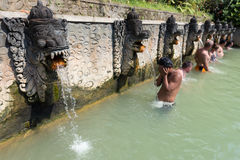 Termal hot springs on Bali Royalty Free Stock Image