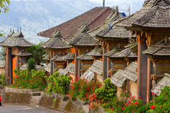 Bali, Indonesia. Settlement street. Landscape in a sunny day Royalty Free Stock Photo